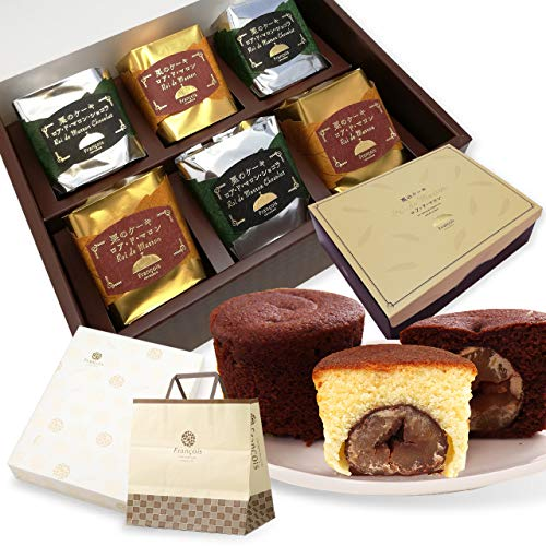 大粒栗のマロンケーキ ロアドマロン 6個入 手提げ紙袋付き お年賀 お菓子 ギフト 詰め合わせ 個包装