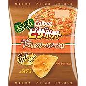 【ケース販売】カルビー おとなピザポテト 魚介のトマトクリームソース味 56g×12袋