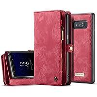 Galaxy S9 ケース、elecfanJ 財布型 分離式カバー 小銭収納 ウォレット 本革調 ケース