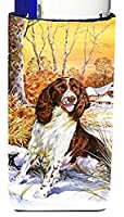 Caroline 's Treasures Springer Spaniel by Don Squires Michelob Ultra Koozies forスリム缶、マルチカラー