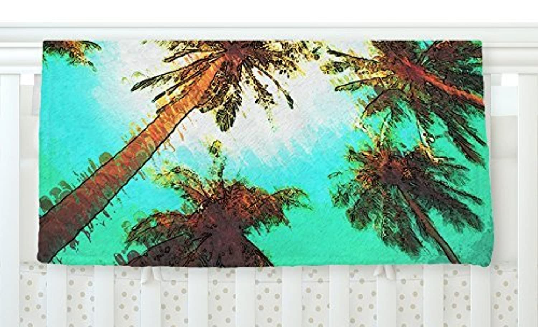 KESS InHouse Oriana Cordero Paradise Teal Trees Fleece Baby Blanket 40 x 30 [並行輸入品]