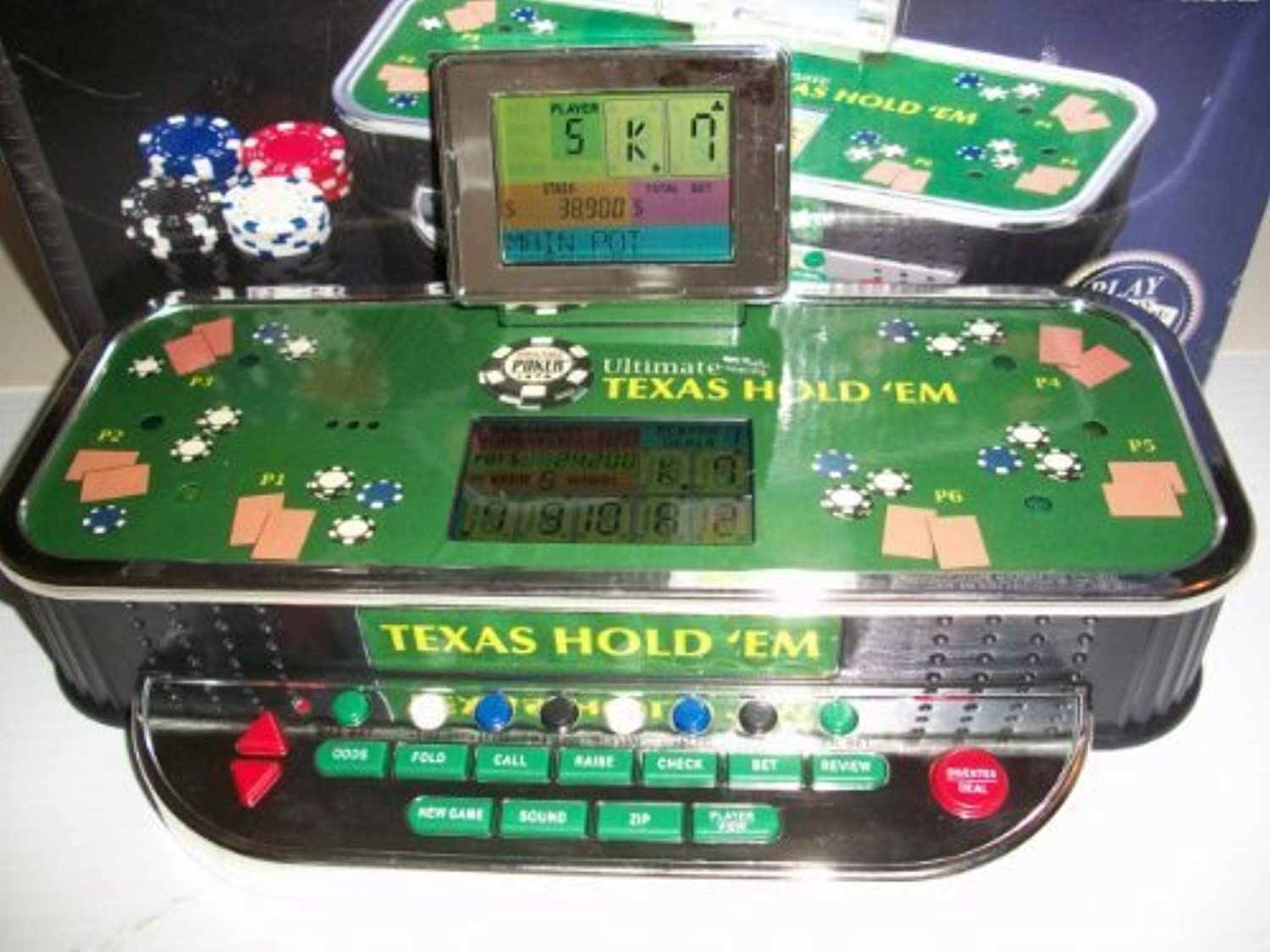ULTIMATE TEXAS HOLD'EM ELECTRONIC TALKING TABLETOP GAME (NEW IN BOX!) by Excalibur [並行輸入品]