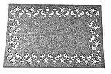 shamakeウールフェルト断熱材テーブルRound Placemats Set of 415インチクリスマスキッチン装飾 30*45*1.2cm グレー