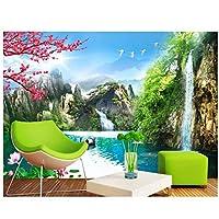 Mrlwy 居間の家の装飾のための壁画の高い山の景色の壁紙の中国の印刷の壁紙-280X200CM