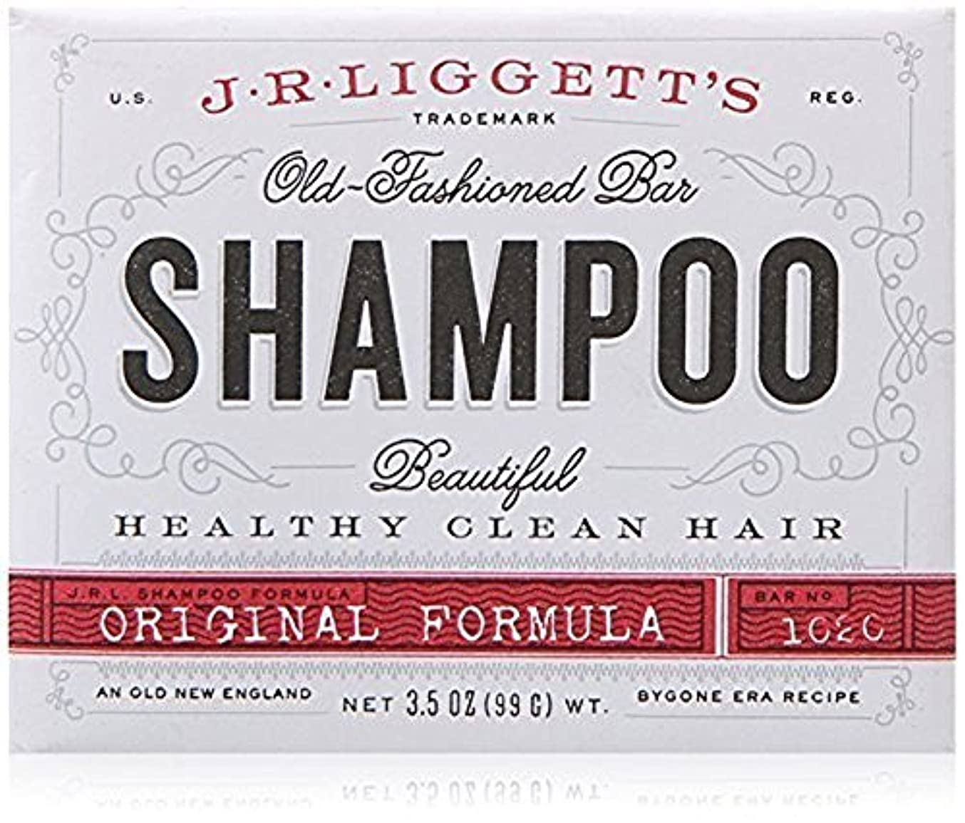 かまどビリーチャンピオンシップx J.R.Liggett's Old-Fashioned Bar Shampoo The Original Formula - 3.5 oz by J.R. Liggett