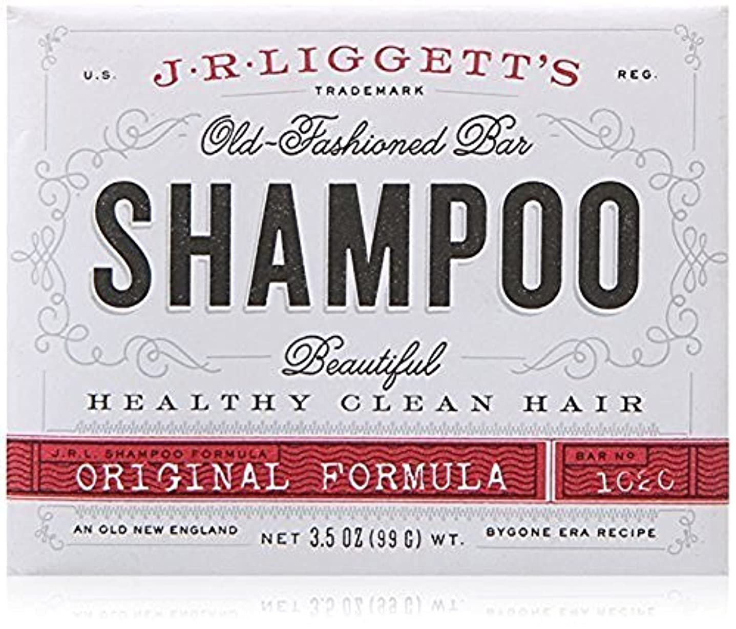 先住民ハリケーンアリx J.R.Liggett's Old-Fashioned Bar Shampoo The Original Formula - 3.5 oz by J.R. Liggett