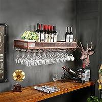 ワインラック/ハンギングレッドワインカップホルダー/吊り下げガラスホルダー/クリエイティブホームバー/ワインラックハンギングガラスホルダー (色 : ブロンズ, サイズ さいず : 100cm)