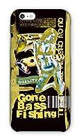 [アングラーズケース] ブラックバス Gone Bass Fishing ローライダーポスター風 イエロー スマホ ケース (商品コード: 2015101208)