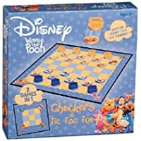 USAopoly Winnie the Pooh Checkers and Tic Tac Toe