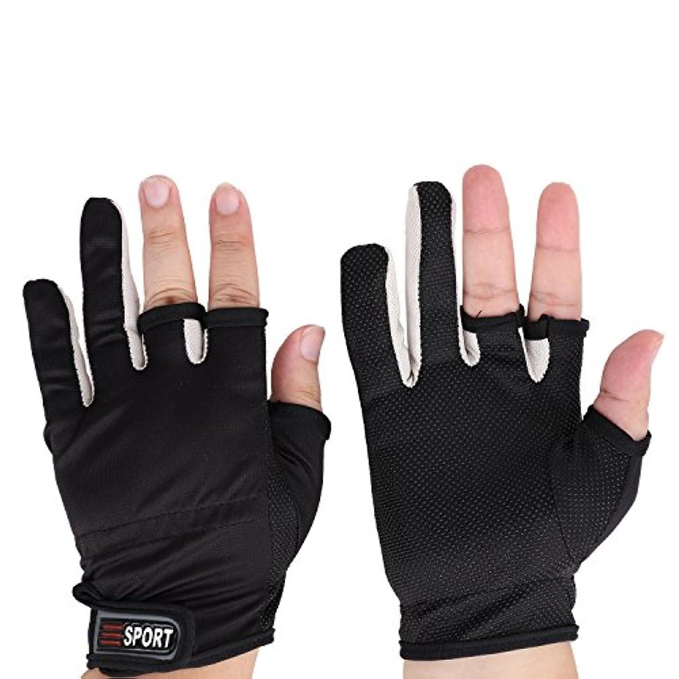 知らせる令状記者釣り用手袋 3本カットフィッシンググローブ 指を保護 釣道具 男性用 アウトドア グローブ 釣り 防水 防寒 保温 防風 通気性 伸縮性 吸湿発散性 滑り止め 2個入り 2色