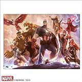 テンヨー 1000ピース マーベル Avengers Team Cap【ピュアホワイト】 ぎゅっとピース (38.2x53.2cm)