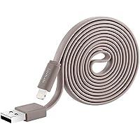 LuxtudeライトニングUSB充電ケーブル Lighting USBケーブル データ転送【Apple認証 iPhone&iPad対応】 グレー 1.5M