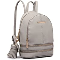 Miss Lulu Small Mini Casual Fashion Cute Saffiano Satchel Backpack for Girls Women