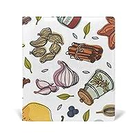 ブックカバー キッチン 野菜 9×11in 文庫 レザー 耐久性 読書 漫画 文庫判 資料 日記 収納入れ 高級感 耐久性 雑貨 プレゼント 贈り物 本カバー
