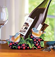 Birds At The Vineyard Wine Bottle Holder by Collections Etc [並行輸入品]