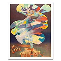 Pal Dancer Loie Fuller Folies Bergere Vintage Advert Art Print Framed Poster Wall Decor 12x16 inch ダンサービンテージ広告ポスター壁デコ