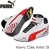 PUMA レーシングシューズ Kart Cat MID3 WHITE/RED サイズ42(27cm)