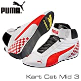 PUMA 靴 PUMA レーシングシューズ Kart Cat MID3 WHITE/RED サイズ42(27cm)