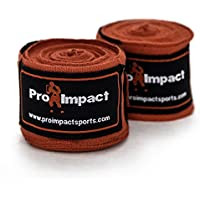 Pro Impact Boxing/Mma Handwraps 460cm Mexican Style Elastic Red