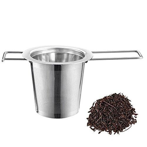 AmazingJP お茶フィルター 茶漉し 茶葉濾過 茶溜めカップ、ポット用 安全健康 ステンレス製 耐熱性(シルバー)