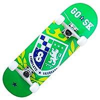 GOSK8 スケボー 28インチ グリーン/ イエロー 28X