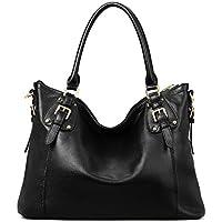 Kattee Women's Vintage Genuine Leather Tote Shoulder Bag