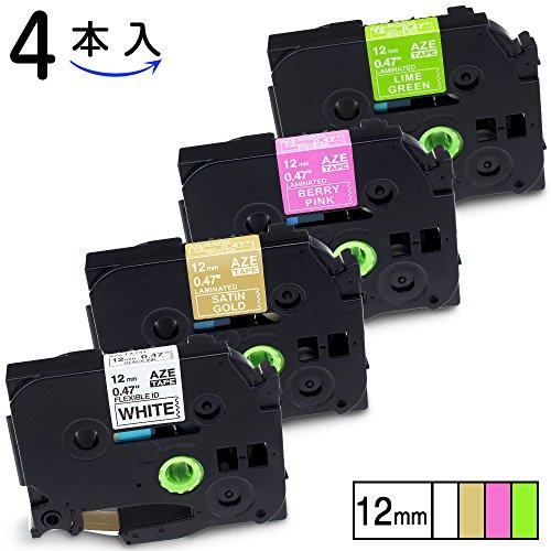 [해외]AOYI 형님 Tze-231 Tze-221 Tze-211 라미네이트 테이프 12mm 9mm 6mm 흰색 노란색 흑자 TZe 테이프 P-Touch 용 호환 세트 .../AOYI Brother Tze-231 Tze-221 Tze-211 Laminated Tape 12 mm 9 mm 6 mm White background yellow surplus TZe tape comp...