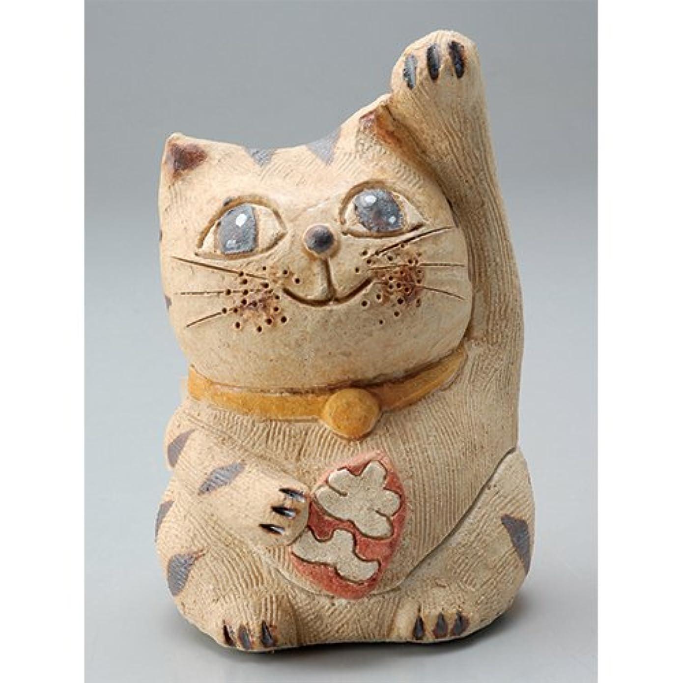 名誉信念独立した香炉 円な瞳招き猫(人招き)香炉(小) [H8.5cm] HANDMADE プレゼント ギフト 和食器 かわいい インテリア
