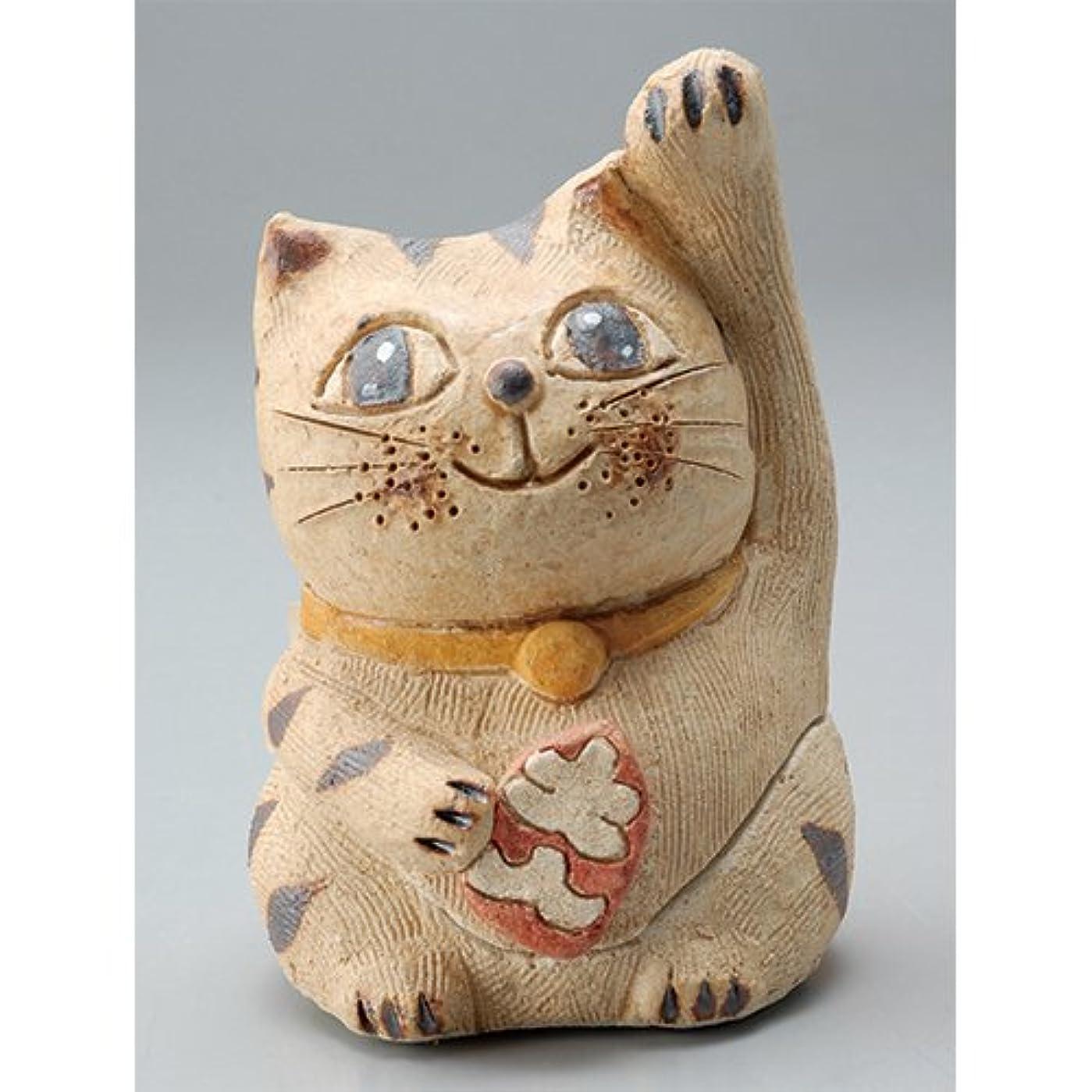 リフレッシュ谷臭い香炉 円な瞳招き猫(人招き)香炉(小) [H8.5cm] HANDMADE プレゼント ギフト 和食器 かわいい インテリア