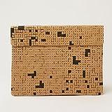 The Wren Design【南アフリカ】ラップトップ/ノートパソコン/Macbook ケース 柄: クロスワードパズル?黒 13