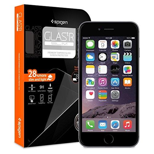 iPhone 6 ガラス フィルム, Spigen® iPhone 6 4.7 強化ガラス  GLAS.tR SLIM (0.4mm) Rラウンド 加工 (iphone6, Glas.t R SLIM) 【SGP10932】