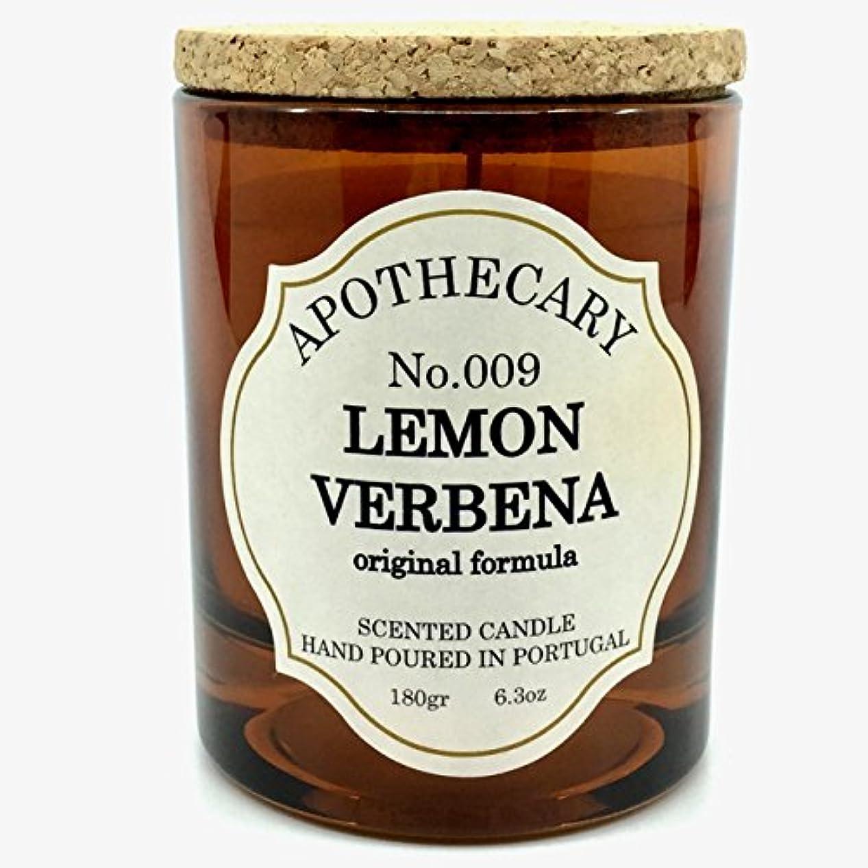 悲しいことにプラカード収益Apothecary No 009 Lemon Verbena Original Formula Scented Candle