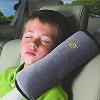 sherry シートベルトカバー シートベルト枕 2個セット キッズ シートベルト 枕 カバー 子供 ドライブ カーグッズ (グレー)