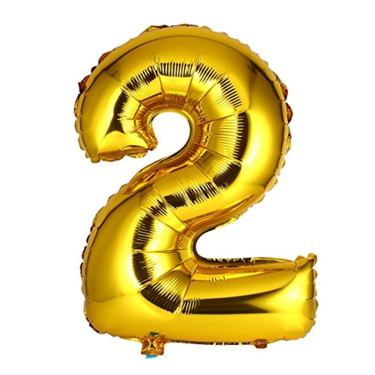 気配りのある無家具30インチゴールド箔マイラー風船用壁の装飾番号箔風船数字エアバルーン結婚式の装飾イベントパーティー用品