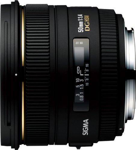 SIGMA 単焦点標準レンズ 50mm F1.4 EX DG HSM キヤノン用 フルサイズ対応