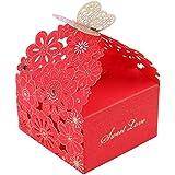 Hillrong ギフトボックス お菓子箱 パーティー 結婚式 誕生日用ボクス 贈り物 好意 ギフトボックス 10個セット