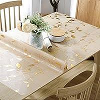 QYM ポリ塩化ビニールの柔らかいガラステーブルクロスの世帯の防水およびオイル - 自由な洗浄のテーブルのテーブルクロスのコーヒーテーブルのatsの曇らされた水晶板 (Color : A, サイズ : 80*140cm)