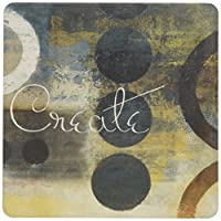 """CoasterStone AS9933 Absorbent Coasters, 4-1/4-Inch, """"Inspire"""", Set of 4 by CoasterStone [並行輸入品]"""