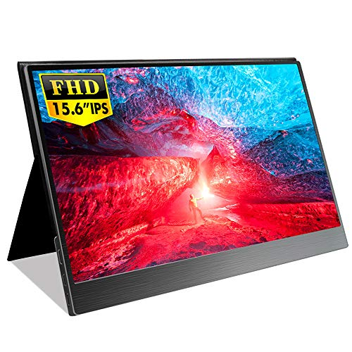 EVICIV 15.6インチ超薄型/モバイルモニター/モバイルディスプレイ/IPSパネル/狭額デザイン/USB Type-C/ミニHDMI/スタンド&保護カバー付き EVC-1502