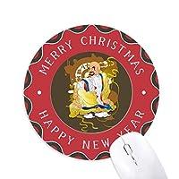仏教の十八羅漢パターンのイラスト 円形滑りゴムのクリスマスマウスパッド