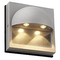 """照明SLV 152042u Dacu 5–1/ 8"""" Tall統合LED壁取り付け用燭台–Ada準拠、シルバーグレー"""
