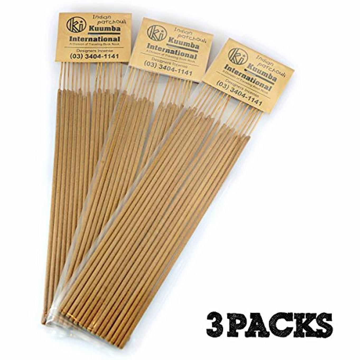 必需品作業メタリックKuumba | クンバ お香 | Regular size | 3パックセット | INDIAN PATCHOULI