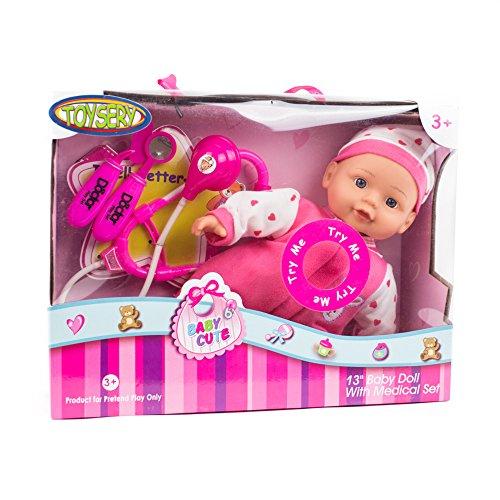 toysery Doctor人形プレイセットおもちゃ病院Ca...