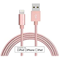 Lightningケーブル、topbin Iphone充電器をUSB同期データとナイロン編組コード充電器for iPhone X / 8 / 8plus / 7 / 7plus / 6 / 6plus / 6s / 6splus / 5 / 5s / 5 C / SE and More 6 Feet