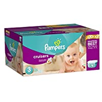 Pampers Cruisers Diapers Economy Plus Pack, Size 3, 174 Count by Pampers
