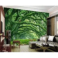 Ansyny 3d壁紙壁画自然風景森ガーデン森鹿猿家の装飾-360X230CM