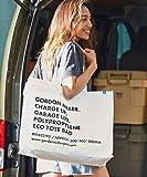 GORDON MILLER ECO TOTE BAG ゴードンミラー エコバッグ タイポグラフィ ホワイト 型掛け 手持ち トート