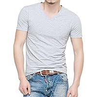 Timber Home (ティンバーホーム) メンズ 無地 半袖 tシャツ ボディフィット ワイルドカットソー