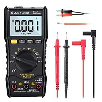 LIUMYデジタルマルチメーター NCV 過負荷保護 電圧 電流 抵抗 周波数 ダイオード 導通テスター バックライトLCD付き