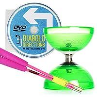 グリーンサイクロンクォーツ2 Triple軸受Diabolo &ピンクSuperglassディアブロSticks Set with Diabolo Directions DVD 。